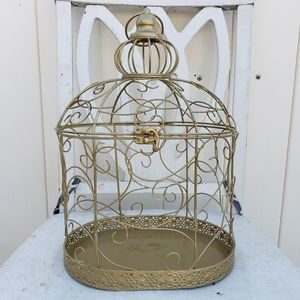 Other - Beautiful medium Gold birdcage
